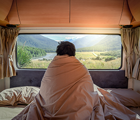 Can I sleep in my vehicle, RV or tent?